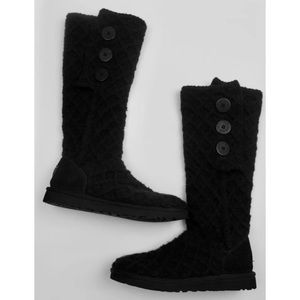 UGG Boots Lattice Cardy Merino Sweater Knit Cuff